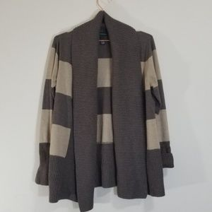 INC open front striped cardigan